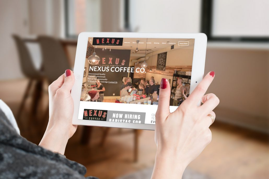 Nexus Coffee Company - Website Design Uxbridge by Rosewood VA
