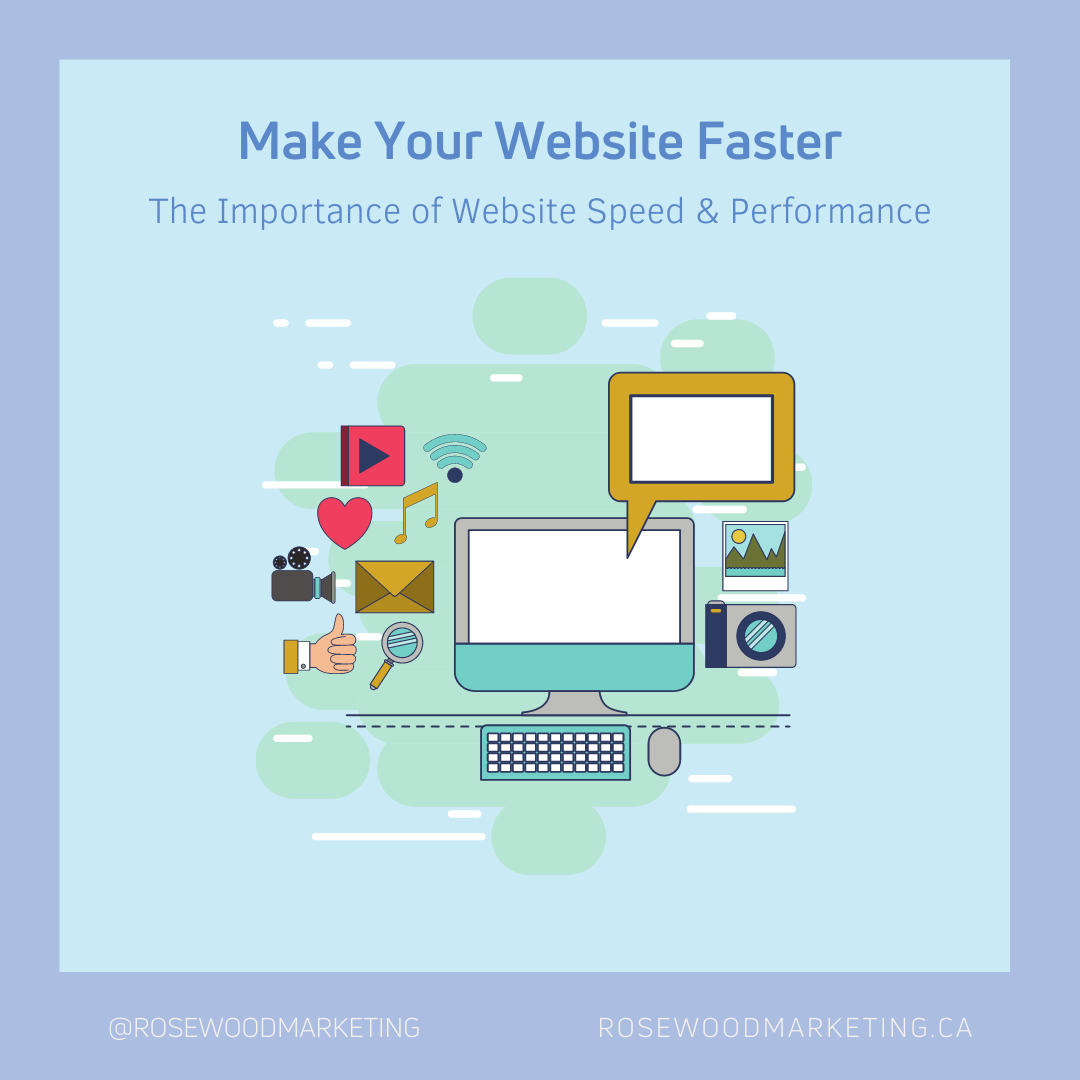"""Graphic of """"How to make your website faster"""""""